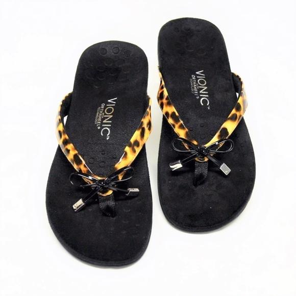 3fc2b089283d Vionic Bella II Sandals Leopard Patent Vinyl 10 41